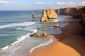 Twelve apostles seascape Royalty Free Stock Photo