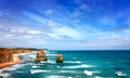 Twelve apostles seascape, Australia Royalty Free Stock Images