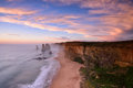 Twelve Apostles sunset along the Great Ocean Road Royalty Free Stock Photo