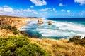 Twelve Apostles in turquoise sea along Great Ocean Road in Austr Royalty Free Stock Photo