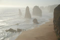 Twelve apostles in victoria australia along the great ocean road Royalty Free Stock Image