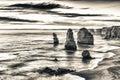 The Twelve Apostles view along Great Ocean Road, Australia Royalty Free Stock Photo