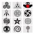 Twelve celtic symbols