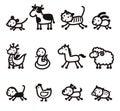 Twelve Chinese Zodiac Animals icon Royalty Free Stock Photo