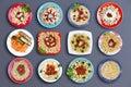 Twelve delicious pasta dishes Royalty Free Stock Photo