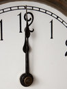Twelve o clock vintage clock face Royalty Free Stock Photos