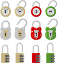 Twelve padlock Stock Photos