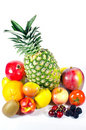 Twelve rounded fruits Royalty Free Stock Photo