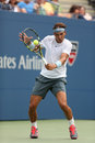 Twelve times grand slam champion rafael nadal duri flushing ny august during his first round match at us open against ryan Stock Photography