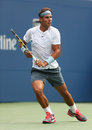 Twelve times grand slam champion rafael nadal duri flushing ny august during his first round match at us open against ryan Stock Photos