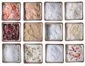 Doce tipos de mar sal en plaza