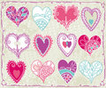 Twelve valentines heart, vector Royalty Free Stock Photography