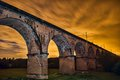 Twemlow viaduct at night cheshire Stock Photography
