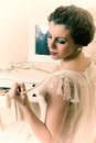 Twenties boudoir woman Royalty Free Stock Photo