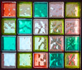 Twenty colored square glass in rectangle Royalty Free Stock Photo