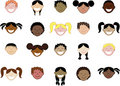 Twenty different children's faces. Royalty Free Stock Image