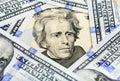 Twenty Dollar Bill - President Jackson Royalty Free Stock Photo