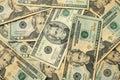 Twenty dollar US bills Stock Image