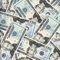 Twenty dollars background Stock Photography