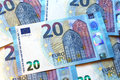 Twenty euro banknotes, new design 2015, european union Royalty Free Stock Photo