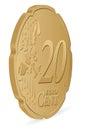 Twenty euro cent Royalty Free Stock Photo