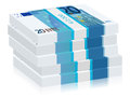 Twenty euro stacks banknotes on a white background Stock Photography