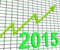 Twenty Fifteen Graph Chart Shows Increase In 2015 Stock Photo