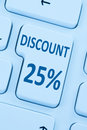 25% twenty-five percent discount button coupon sale online shopp Royalty Free Stock Photo