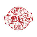 Twenty five percent off stamp Stock Photo