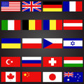 stock image of  Twenty flags set