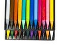 Twenty four color pencils close up Royalty Free Stock Photo