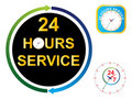 Twenty four hours service Stock Photos