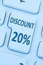 20% twenty percent discount button coupon sale online shopping i Royalty Free Stock Photo
