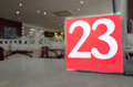Twenty three the number white on red to draw attention to it self Royalty Free Stock Image
