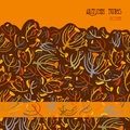 Twigs pattern. Orange brown background with border design. Text place. Royalty Free Stock Photo