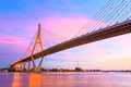 Twilight bridge concrete at bangkok thailand Royalty Free Stock Image