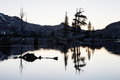 Twilight in desolation wilderness lake aloha is a remote glacial basin the high backcountry of sierra nevada mountains of eastern Stock Image