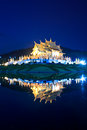 Twilight at ho kham luang thailand temple in chiangmai province of Royalty Free Stock Image