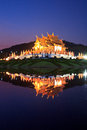 Twilight at ho kham luang thailand temple in chiangmai province of Royalty Free Stock Photography
