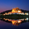 Twilight at ho kham luang thailand temple in chiangmai province of Stock Photos