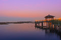 Twilight landscape of taihu lake in china Royalty Free Stock Images