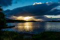 Twilight at Lough Leane in Ireland Royalty Free Stock Photo