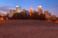 Twilight Midtown Atlanta and Oak Hill in Piedmont Park, USA Royalty Free Stock Photo