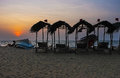 The twilight on Negombo beach