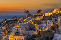 Twilight in oia santorini island greece Royalty Free Stock Image
