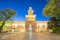 Twilight of Sforza Castle in Milan, Italy Royalty Free Stock Photo