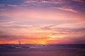 Twilight sky beautiful seascape and the Stock Photo