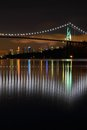Lions Gate Night, Vancouver Royalty Free Stock Photo