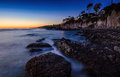 Twilight of Victoria Beach Royalty Free Stock Photography