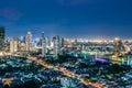 Twilight views bangkok city at thailand Stock Photo